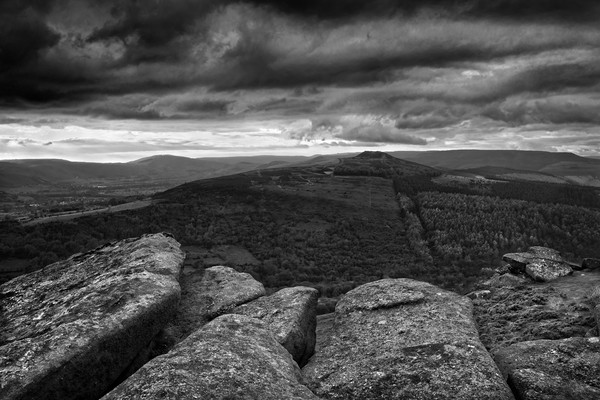 Win Hill under Stormy Skies                        Canvas print by Darren Galpin
