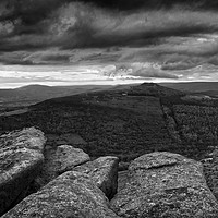 Buy canvas prints of Win Hill under Stormy Skies                        by Darren Galpin