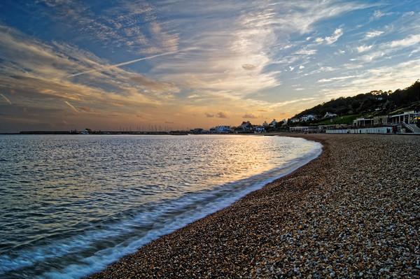 Lyme Regis Sunset                       Canvas print by Darren Galpin