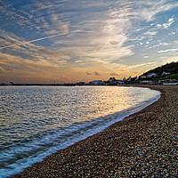 Buy canvas prints of Lyme Regis Sunset                       by Darren Galpin