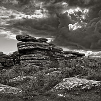 Buy canvas prints of Combestone Tor                                 by Darren Galpin