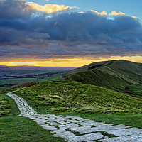 Buy canvas prints of Walking into the Sunset                            by Darren Galpin