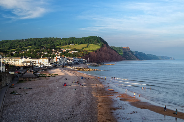 Sidmouth Seafront and Beach                      Canvas print by Darren Galpin