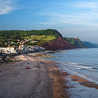 Buy canvas prints of Sidmouth Seafront and Beach                      by Darren Galpin