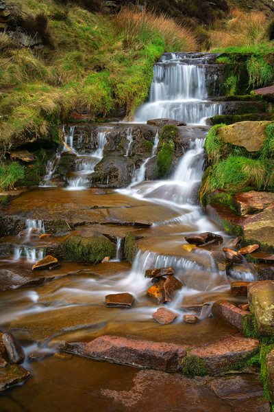 Nether North Grain Waterfalls                      Canvas print by Darren Galpin