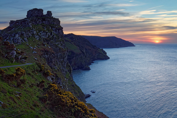 Valley of the Rocks Sunset                         Canvas print by Darren Galpin