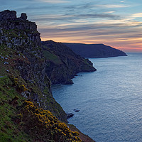 Buy canvas prints of Valley of the Rocks Sunset                         by Darren Galpin