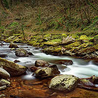 Buy canvas prints of East Lyn River                                by Darren Galpin