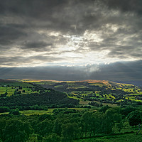 Buy canvas prints of Hope Valley Light Rays                        by Darren Galpin