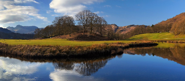 River Brathay Panorama                        Canvas print by Darren Galpin