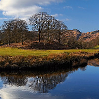 Buy canvas prints of River Brathay Panorama                        by Darren Galpin