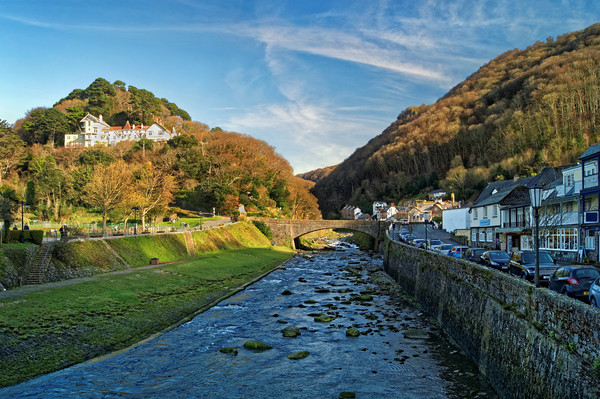 Lynmouth                       Canvas Print by Darren Galpin