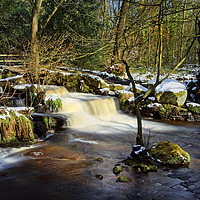 Buy canvas prints of Third Coppice Weir, Rivelin                        by Darren Galpin