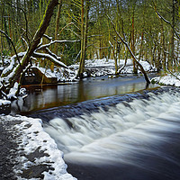 Buy canvas prints of Holme Head Weir, Rivelin                           by Darren Galpin