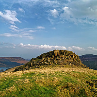 Buy canvas prints of Crook Hill overlooking Ladybower                   by Darren Galpin