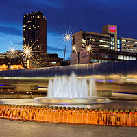 Buy canvas prints of Sheaf Square,Sheffield. by Darren Galpin