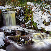 Buy canvas prints of Upper Coppice Wheel in Winter                      by Darren Galpin