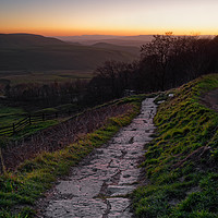 Buy canvas prints of    Peak District Sunset                            by Darren Galpin