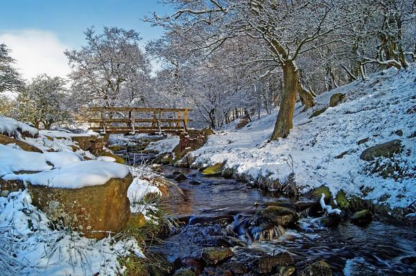 Burbage Brook in Winter                       Canvas print by Darren Galpin
