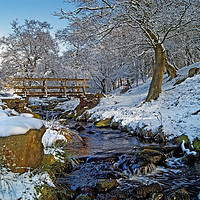 Buy canvas prints of Burbage Brook in Winter                       by Darren Galpin