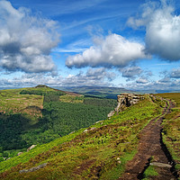 Buy canvas prints of Bamford Edge and Win Hill                     by Darren Galpin