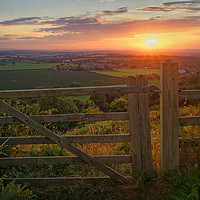 Buy canvas prints of Ham Hill Sunset                        by Darren Galpin