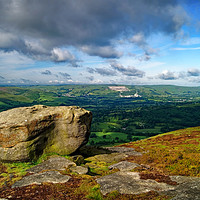 Buy canvas prints of Hope Valley from Bamford Edge                      by Darren Galpin