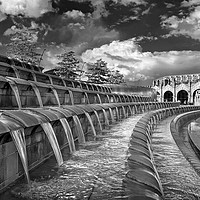 Buy canvas prints of Sheaf Square Water Feature, Sheffield              by Darren Galpin