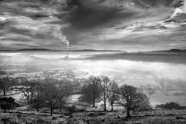 Hope Valley Inversion                              Canvas Print by Darren Galpin