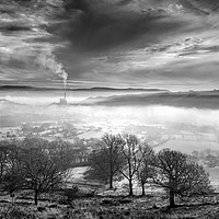 Buy canvas prints of Hope Valley Inversion                              by Darren Galpin