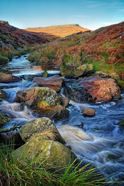 Burbage Brook during Autumn                      Canvas print by Darren Galpin