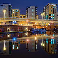 Buy canvas prints of  Victoria Quays at Night                           by Darren Galpin