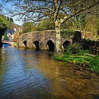 Buy canvas prints of Bury Bridge & River Haddeo                      by Darren Galpin