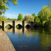 Buy canvas prints of Bakewell Bridge & River Wye                        by Darren Galpin