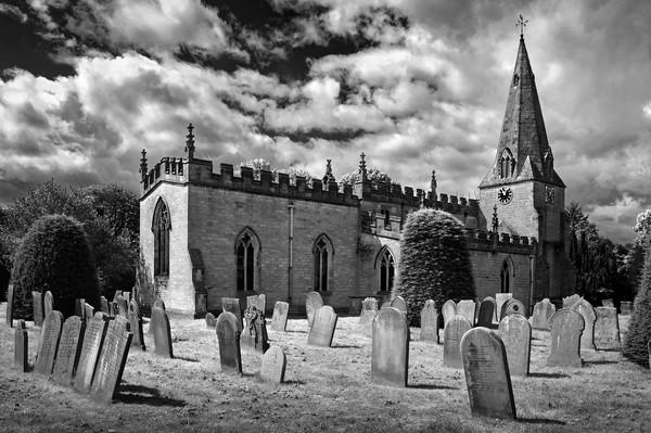 St Anne's Church,Baslow                     Canvas print by Darren Galpin