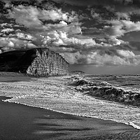 Buy canvas prints of Stormy Sea at West Bay                         by Darren Galpin