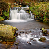 Buy canvas prints of Grindsbrook Waterfalls                             by Darren Galpin