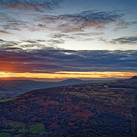 Buy canvas prints of Win Hill Sunset                                by Darren Galpin