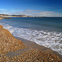 Buy canvas prints of Lyme Regis Beach and Jurassic Coastline            by Darren Galpin