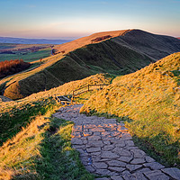 Buy canvas prints of  Rushup Edge from Mam Tor                          by Darren Galpin