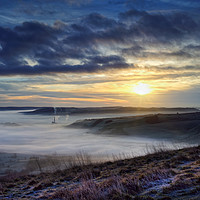 Buy canvas prints of Hope Valley Sunrise                                by Darren Galpin