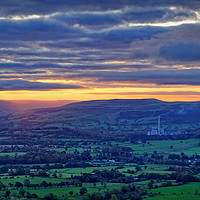 Buy canvas prints of Sunrise across the Hope Valley                     by Darren Galpin