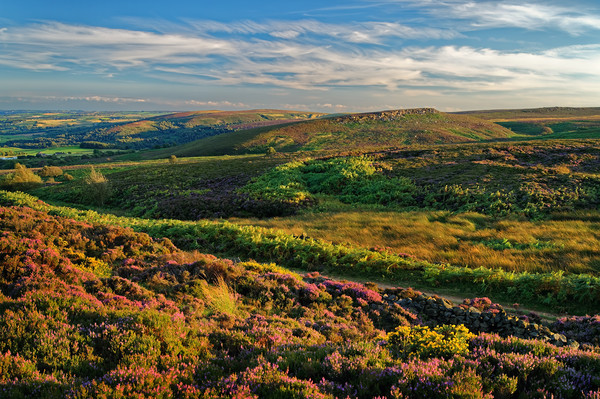 Burbage Moor and Houndkirk Hill                    Canvas print by Darren Galpin