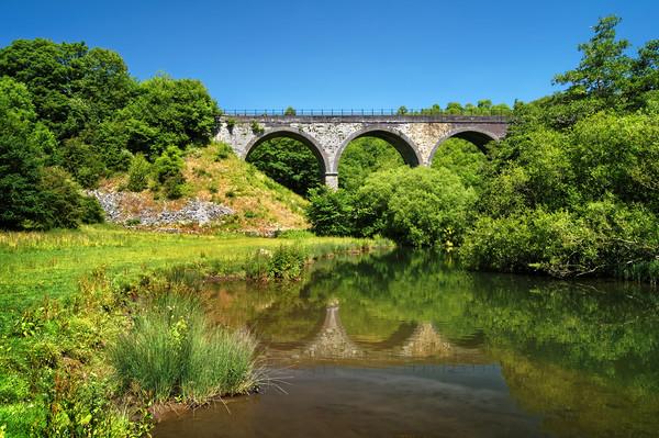 Headstone Viaduct & River Wye, Monsal Dale         Canvas print by Darren Galpin