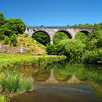Buy canvas prints of Headstone Viaduct & River Wye, Monsal Dale         by Darren Galpin