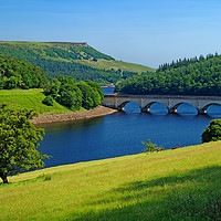 Buy canvas prints of Ladybower and Ashopton Viaduct                     by Darren Galpin