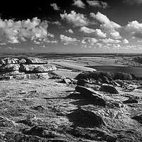 Buy canvas prints of Tregarrick Tor looking towards Siblyback Reservoir by Darren Galpin