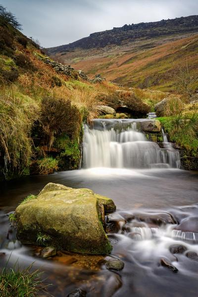 Grindsbrook Waterfalls                             Canvas Print by Darren Galpin