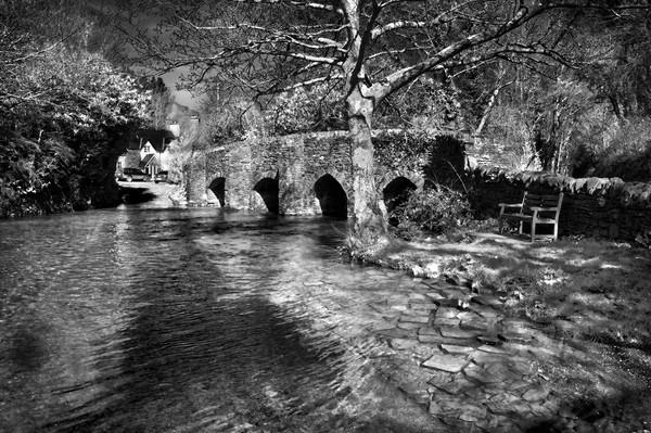 Bury Bridge & River Haddeo                       Canvas Print by Darren Galpin