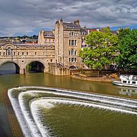 Buy canvas prints of Pulteney Bridge & River Avon in Bath               by Darren Galpin